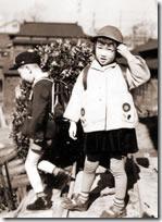 小学校第一日目のわたしとマコトちゃん。
